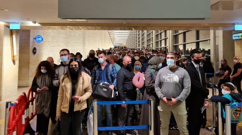 regras para aglomeração no aeroporto de israel