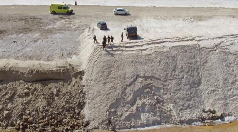 Muro de proteção feito de sal