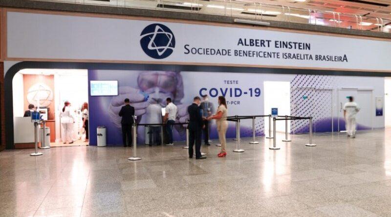 Einstein faz testes de Covid no Aeroporto do Rio
