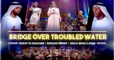 Banda Shalva com artista dos Emirados