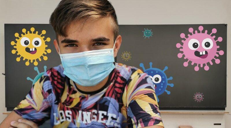 Exigência de máscaras e crianças vacinadas