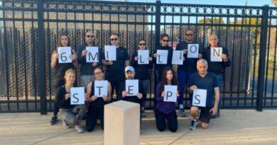 Seis milhões de passos pelas vítimas