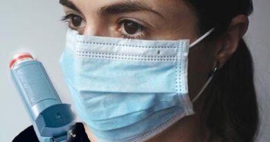 Redução de asma com uso de máscaras