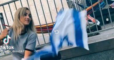 árabe rasga bandeira de Israel