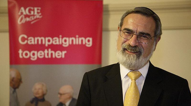 honra ao falecido Rabino Sacks