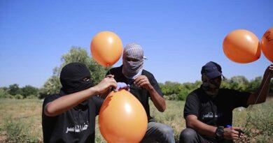 Balões incendiários continuam