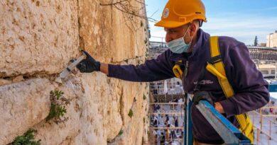Pedras do Kotel são inspecionadas