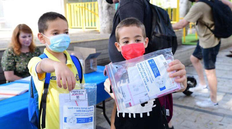 Crianças recuperadas isentas de teste