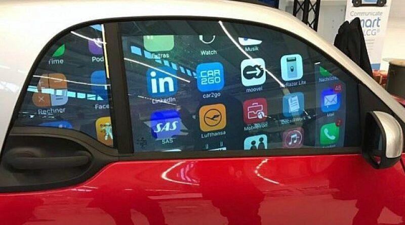vidro inteligente para carros