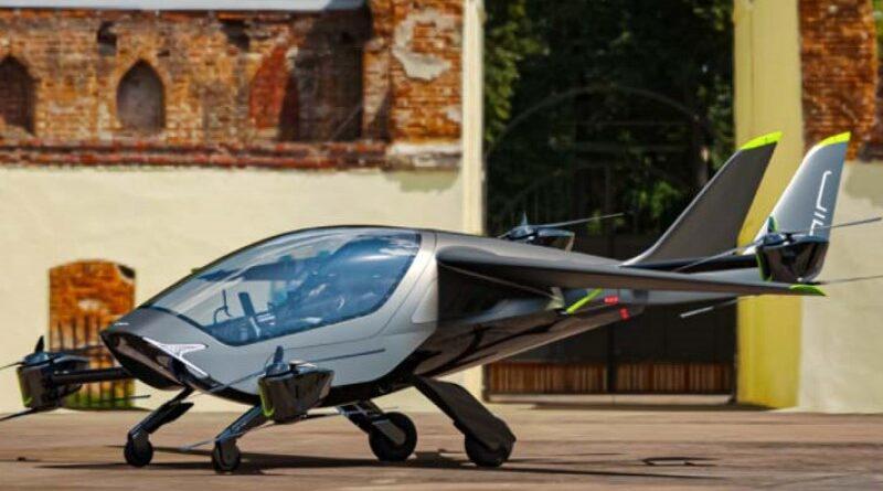 Avião elétrico decola verticalmente